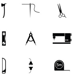 Diy tool icon set vector