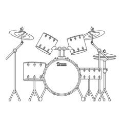 Drums set icon vector