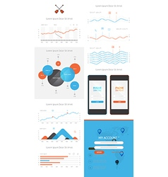 elements of infographics and user interface vector image