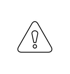 exclamation danger line sign black on white vector image