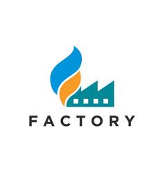 Factory logo design production chimney smoke vector
