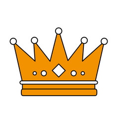 Flat line crown design vector