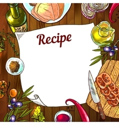 food recipe vector image