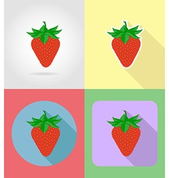 Fruits flat icons 14 vector