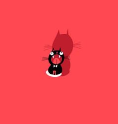 funny kitten sign vector image