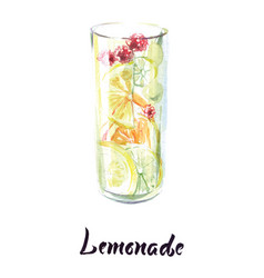 Glass lemonade vector
