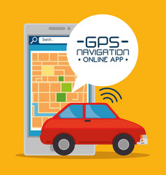 Gps navigation online application vector
