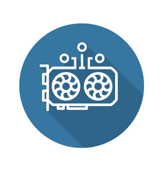 Gpu mining icon vector