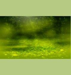 green background with bokeh abstract warm nature vector image