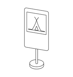 Guide road sign icon in outline style isolated on vector