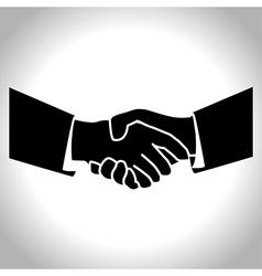 handshake black vector image