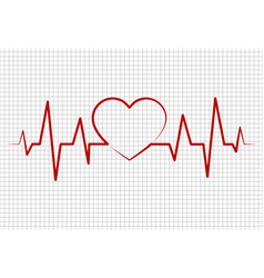heart beats cardiogrampulse life line forming vector image