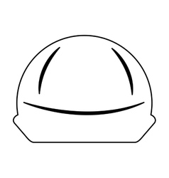Helmet safety isolated icon vector