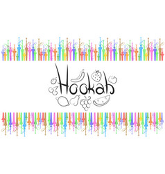 Hookah abstract vector