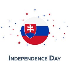 independence day of slovakia patriotic banner vector image