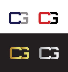 Initials with letter C and letter G vector image
