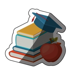 Isolated book and apple design vector