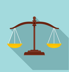 Judge balance icon flat style vector