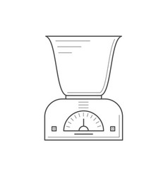 Kitchen scales with a deep bowl vector