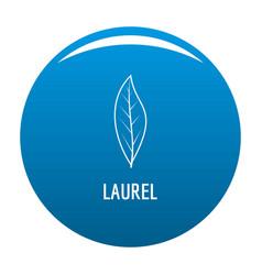 laurel leaf icon blue vector image