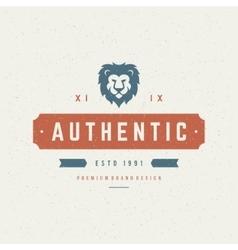 lion head design element in vintage style vector image