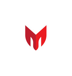 m letter icon template vector image
