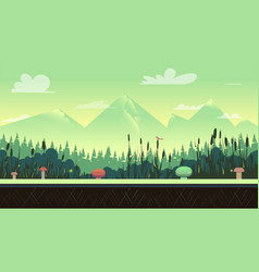 Nature landscape in green colours vector