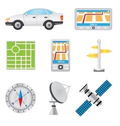 Navigation vector image