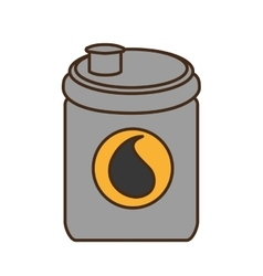 Oil barrel tank isolated icon vector