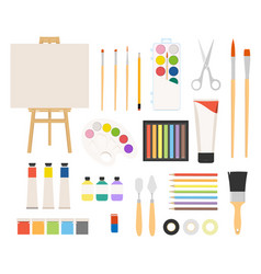 painter art tools paint arts tool kit watercolor vector image