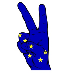 Peace Sign of Alaska flag vector image