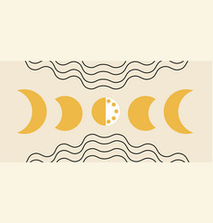 Phases moon concept vector