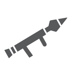 rocket launcher glyph icon firearm and grenade vector image