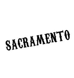 sacramento rubber stamp vector image