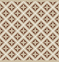 Seamless brown beige tile pattern vector