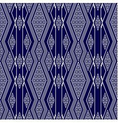 Seamless thai pattern blue and white modern shape vector