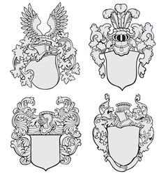 set aristocratic emblems no3 vector image