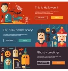 set halloween flat design modern vector image