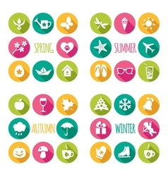 Set of 32 flat icons vector