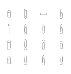 set various steel office clips vector image