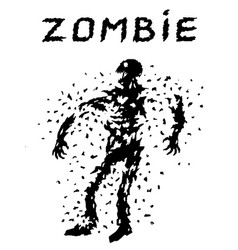 Shoot the zombies from all guns scary character vector