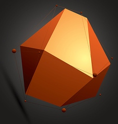 Spatial colorful digital object 3d technology vector