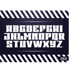 Sport font alphabet with latin letters vector