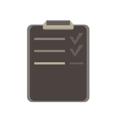 test document flat icon answer check checklist vector image