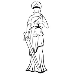 Themis or justice - goddess order fairness vector