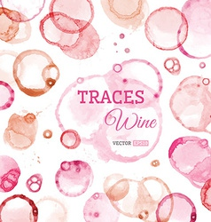 Traces of wine background vector