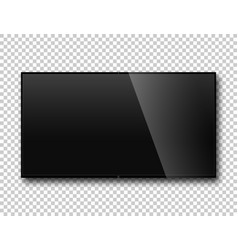 tv on isolate background modern blank screen lcd vector image