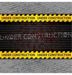 Under construction background template vector