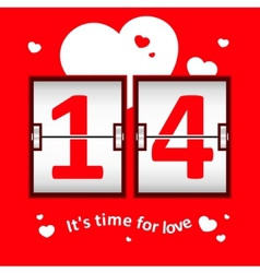 Valentines day date scoreboard vector image