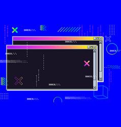 vaporwave cyberpunk glitch retrofuturistic vector image